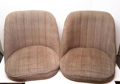PAIR OF VINTAGE 1920s BAR COUNTER STOOL REPLACEMENT SEATS ADMIRAL INDUSTRIES