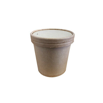 25x Soup Cup with Lid 12oz / 354mL BetaKraft Disposable Hot Food Container