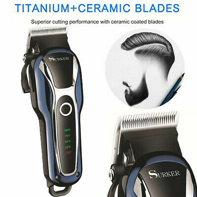 Electric Hair Trimmer Clipper Professional Men Shaver Barber Haircut LCD Machine