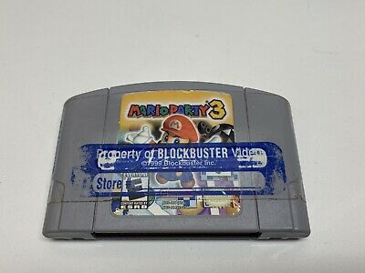Mario Party 3 Nintendo 64 N64 game 100% Authentic Clean Blockbuster Sticker NFR
