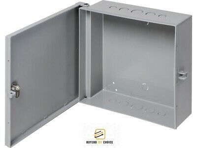 "Arlington Outdoor Electric Cabinet Enclosure Box Heavy Duty Plastic 7"" x 8"" Gray"