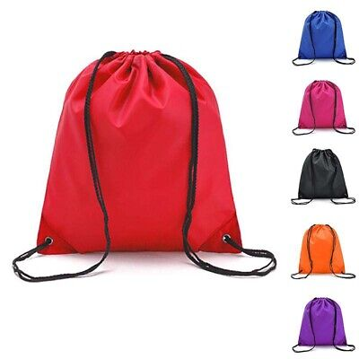 Unisex Travel Hiking Drawstring Waterproof Rope Bags Backpack Candy Color Casual