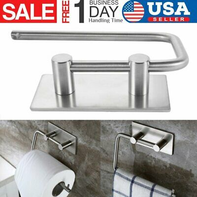 Paper Towel Holder Under Cabinet Wall Mount Stainless Steel Rack Kitchen Room US