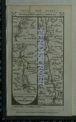 1785 Paterson Strip Map -Reading,Wallingford,Oxford,Brackley,Towcester,N'ampton