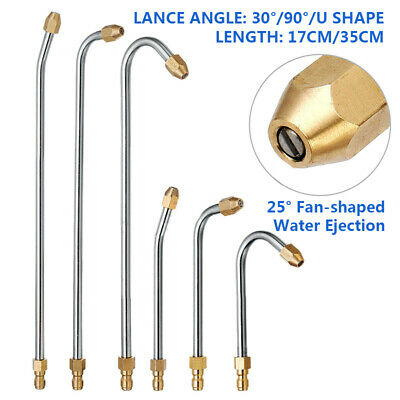 30°/90°/U Shape Spray Wand Pressure Washer Angled Lance Extension Tools 5000PSI