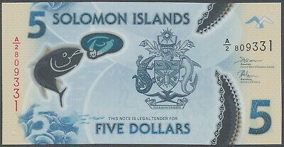 Salomonen / Solomon Islands - 5 Dollars 2019 UNC - Pick New, Polymer