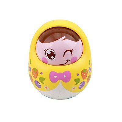 Toyshine Push and Shake Wobbling Bell Sounds RolyPoly Tumbler Doll (Multicolour)