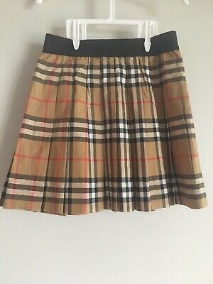 114fccd47c KIDS BURBERRY PANSIE Pleated Check Skirt - $125.00   PicClick