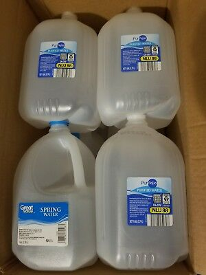 Lot of 10 empty 1 gallon water jugs containers hobby crafting etc.