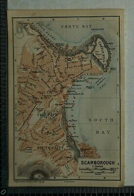 Map 347.Vintage Scarborough Map 347 Of England And Wales 55 00 Picclick Uk