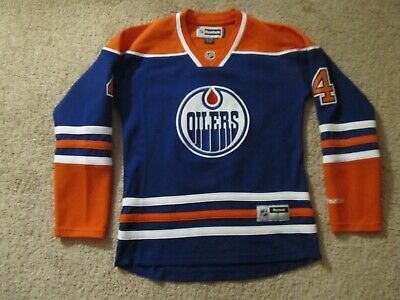 reputable site 50694 6d261 TAYLOR HALL EDMONTON Oilers Reebok Youth Replica Player ...