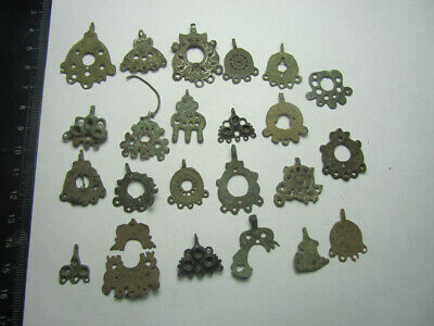 Ancient  fragments. Ancient earrings   100% original Metal detector finds