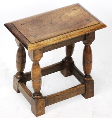 Vintage English Oak Joint Stool - FREE Shipping [PL3771]