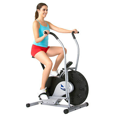 Body Max Rider Stationary Upright Exercise Fan Bike - FITNESS EQUIPMENT BICYCLE