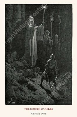 1880 The Corpse Candles Gustave Dore BIG archival fine art print 24x36
