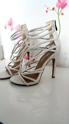 53723e9d2c Koi Footwear High Heeled heel Sandals shoes strap strappy White UK 4 party