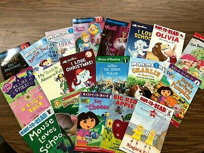 RANDOM LOT of 15 LEVEL 1 GRADE early readers girl princess fairy Fancy Nancy dog
