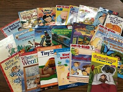RANDOM LOT of 15 LEVEL 1 GRADE early readers boy dinosaur Star Wars Scooby Doo
