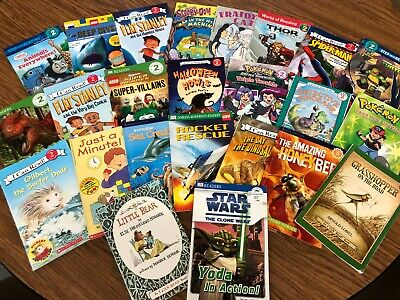 RANDOM LOT of 15 LEVEL 2 GRADE early readers boy dinosaur Star Wars sharks train