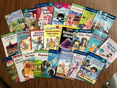 RANDOM LOT of 15 LEVEL 2 GRADE early readers girl Princess Fairies Pets Dora
