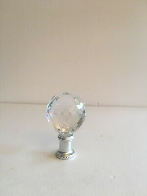 40Mm Crystal Ball & Silver Lamp Finial