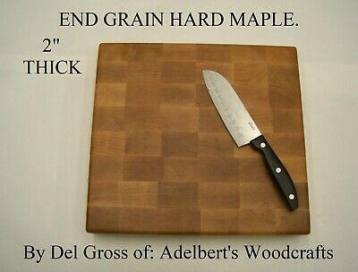 Beautiful Solid Hard Maple End Grain Cutting Board. Shipped by priority.