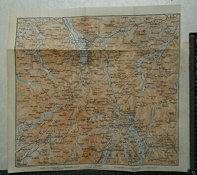 1910 Vintage Baedeker Map of the Lake District