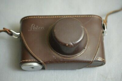 Original Vintage Brown Leather Leica Ernst Leitz Wetzlar Camera Case Germany