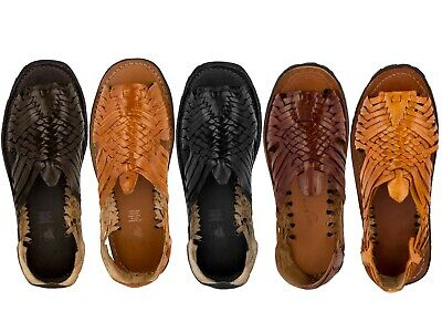 Mens Sandals Mexican Huaraches Authentic Genuine Leather Handmade Woven Open Toe