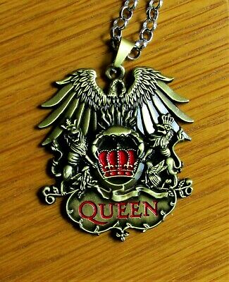 Queen Rock Band Freddie Mercury Necklace Pendant Neck Chain Queen Metal Fob Rock & Pop