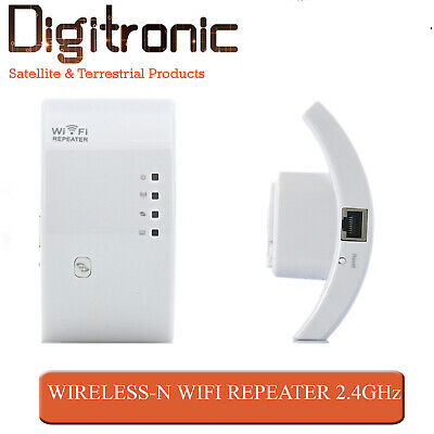 WiFi Repeater 2.4Ghz Wireless Signal Range Extender Wall Plug AP Booster 300Mbps