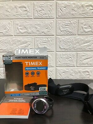 Timex Personal Trainer Heart Rate Monitor Watch Ironman Edition And Chest Strap