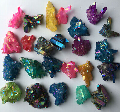 1246g24p More color Aura Quartz Crystal Titanium Bismuth Silicon Cluster Rainbow
