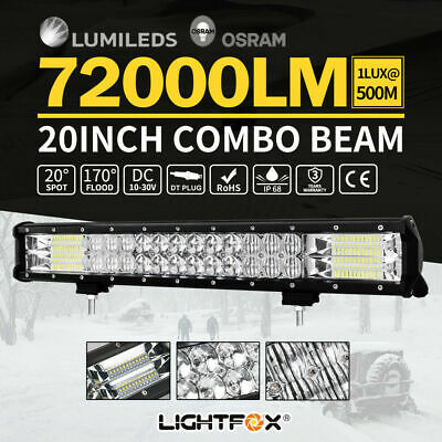 LED Light Bar Dual Row Combo Beam Work Driving Offroad 20 INCH Philips