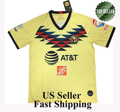 c3aaa51f469 NIKE CLUB AMERICA Official 2018-2019 Home Soccer Football Jersey ...