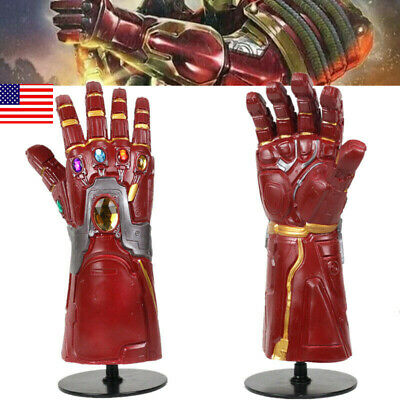 US! Avengers4: Endgame Iron Man Glove Arm Gem Infinity Gauntlet Adult Props