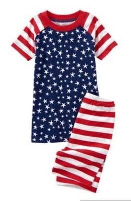 NWT Gymboree RED WHITE & CUTE Stars & Stripes Shorts Pajamas PJs Gymmies 18-24 M