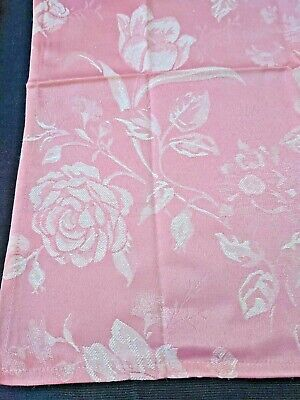 6 x Fabric Cloth Serviette Napkins 46 x 46cm Cafe Restaurant Retro PINK Floral