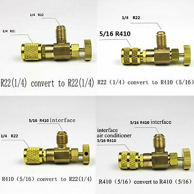 "R22/R410A Refrigeration Charging Adapter For 1/4"" 5/16"" Home Tool Safety Valve"