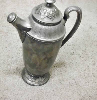 Silverplate Art Deco Cocktail Shaker Mixer Pitcher 1847 Rogers Marquise