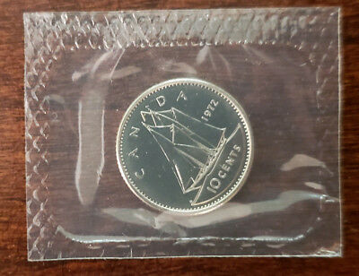1972 Canada 10 Cents - Proof-Like Mint Sealed UNC - MS-65