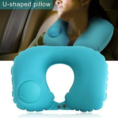 Automatic Inflatable Travel Neck Pillow Inflatable Portable  Airplane Pillow BG