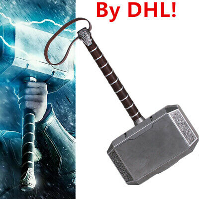 DHL! Full Metal CATTOYS 1:1 The Avengers Thor Hammer Replica Mjolnir Adult Prop