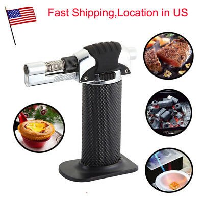 Jet Torch Lighter Adjustable Flame Butane Refillable Cigar Lighter BBQ Cake