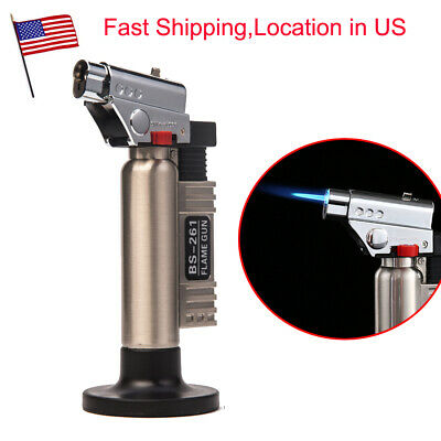 Torch Jet Adjustable Flame Refillable Cigarette Cigar Lighter BBQ Soldering US