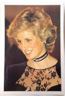 H.R.H. Diana The Princess of Wales Postcard Vintage Collectible Britain Souvenir