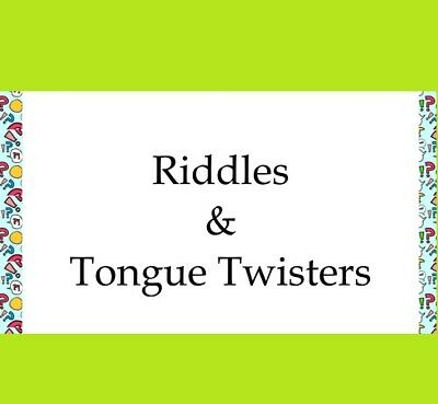 RIDDLES & TONGUE TWISTERS 737 MAX 2 CANARY 2 GOLD WATCH PDF-eBOOK FAST DELIVERY