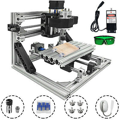 3 Axis CNC Router Kit 1610 500MW Milling Engraving With Laser Engraver T8 Screw