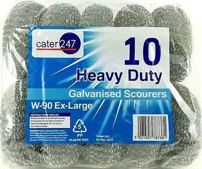 Scourers W-90 Large Heavy Duty Cater 247 Galvanised 4 X 10 PK (40 PIECES)