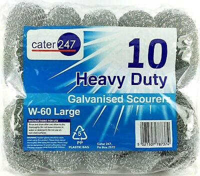 Scourers Large Heavy Duty Galvanised  Cater 247 W-60 4 X 10 PK   (40)